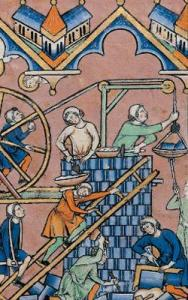 Paris: Old Testament Miniature (1420s); the Tower of Babel. Courtesy of The Morgan Picture Bible.
